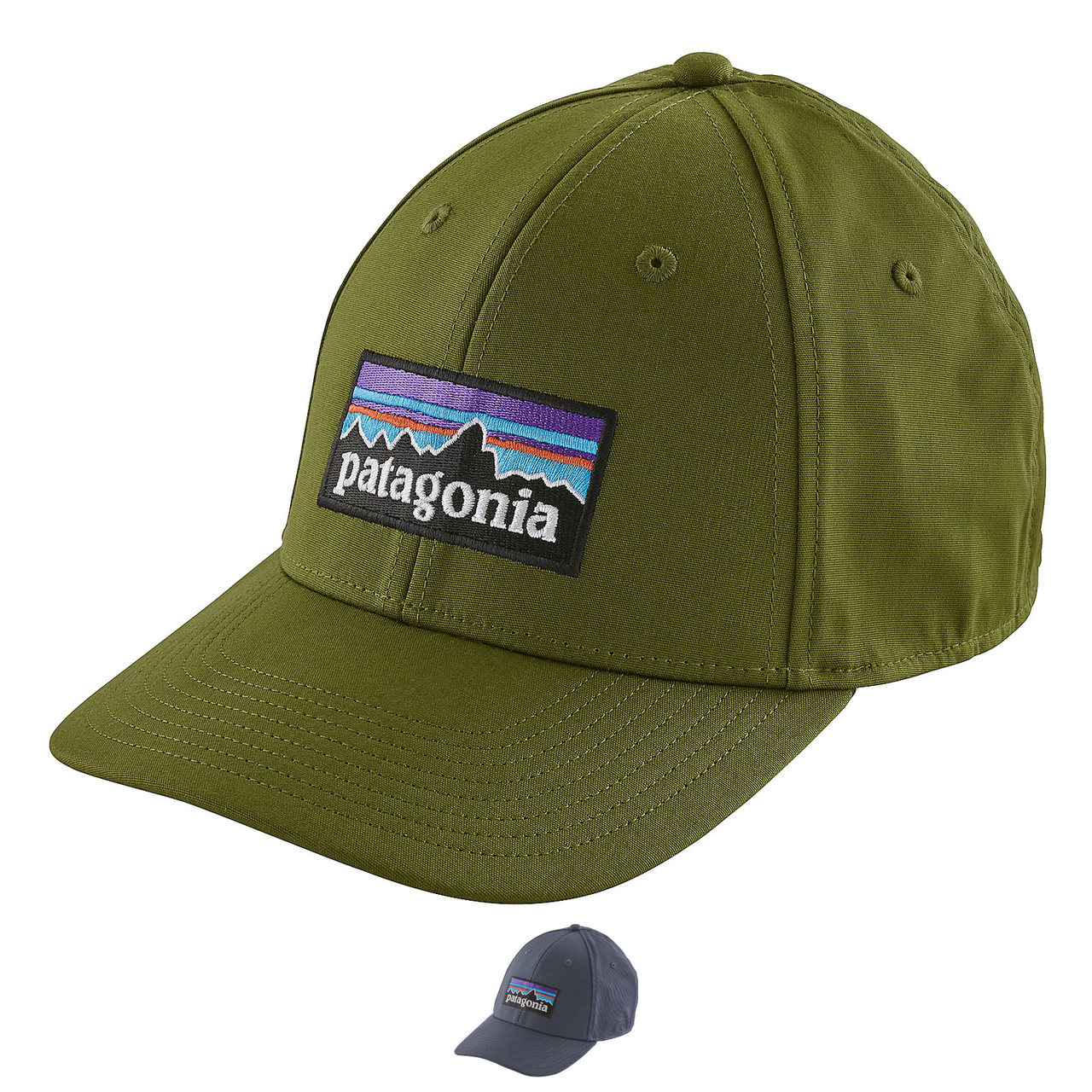 779e7f8d0e070 Patagonia P-6 Logo Stretch Fit Hat - AvidMax