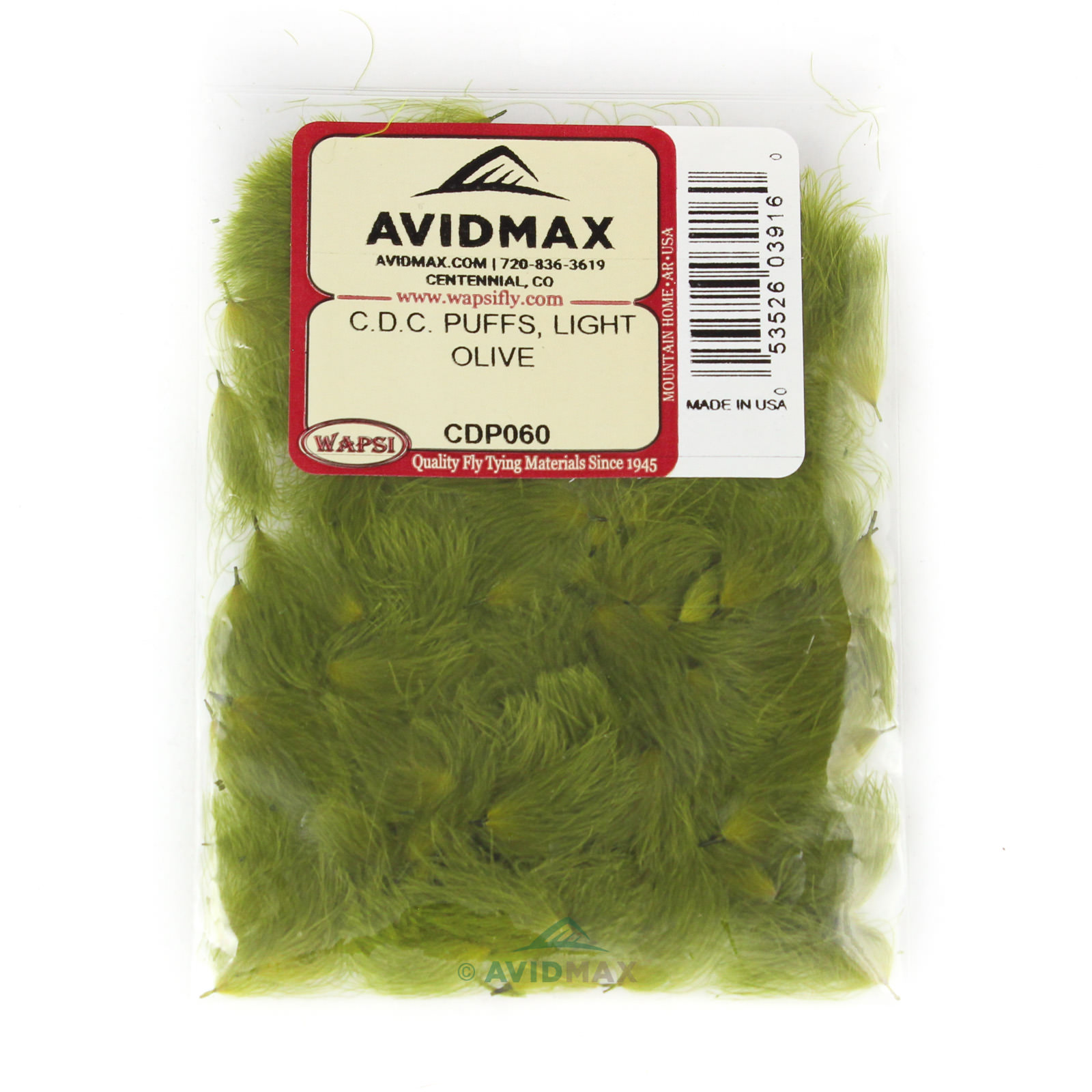 Fly Tying-Hareline Cul de Canard CDC Feathers Chartreuse