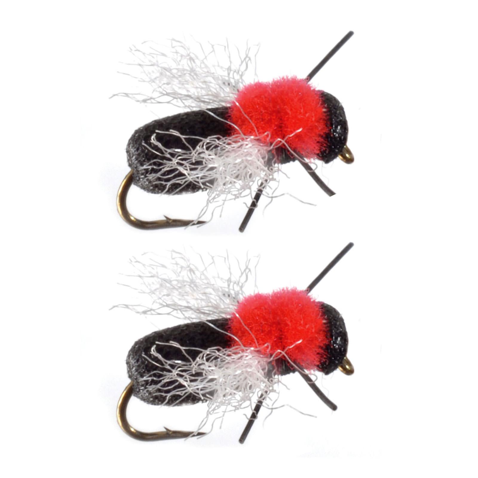 Umpqua Foam Flying Ant Black Terrestrials 2 Pack Dry Fly Fishing Flies