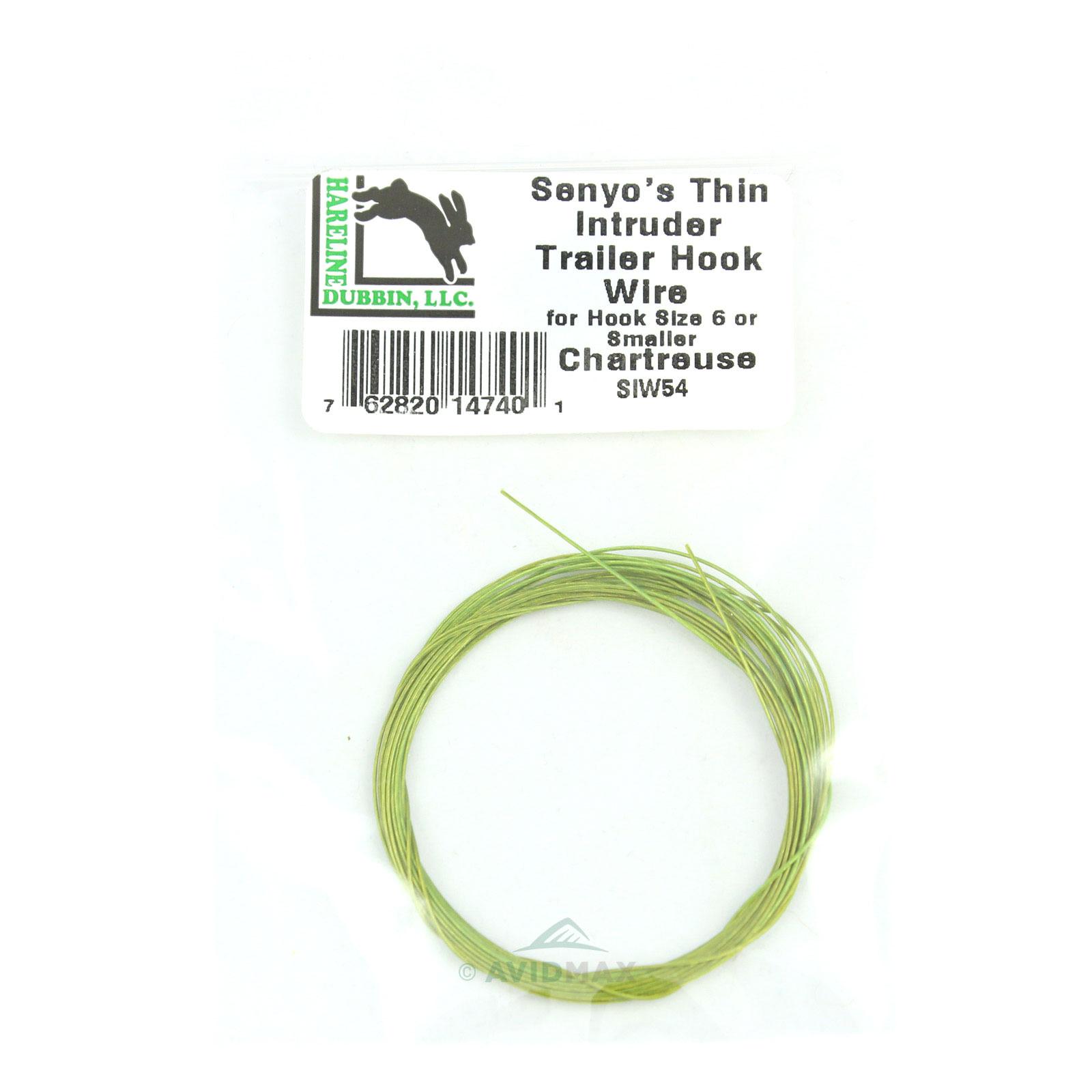 Fly Tying Senyo/'s Standard Intruder Trailer Hook Wire Grey