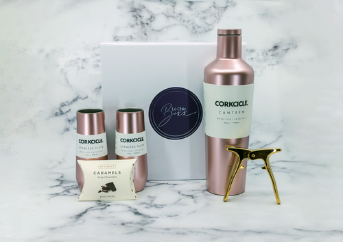 Champagne and Rose Lover's Box