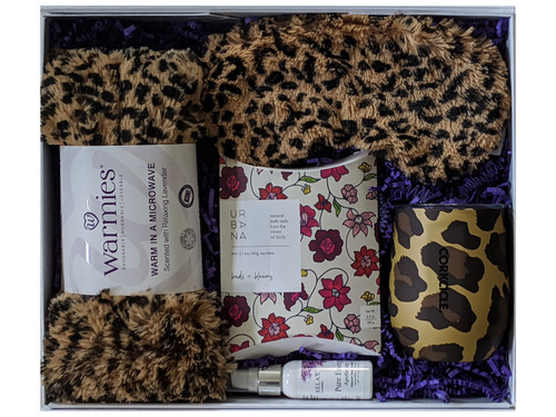 Leopard Print Spa Gift Box