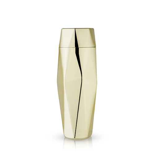 Faceted Gold Cocktail Shaker by Viski®