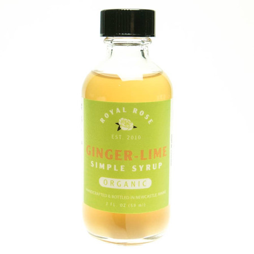 Ginger Lime Organic Simple Syrup 2oz