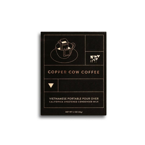 Copper Cow Vietnamese coffee. 2 single-serving kits