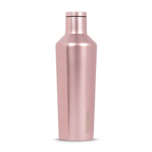 Corkcicle Metallic Rose Canteen.  Holds an entire bottle of wine.  Stays chilled for hours.