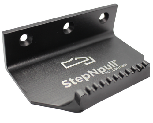 StepNpull Aluminum Foot Operated Door Opener in black