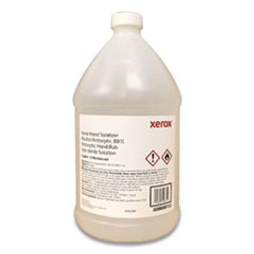 Xerox Hand Sanitizer, 1 gal Bottle with Pump, Unscented, 4/Carton