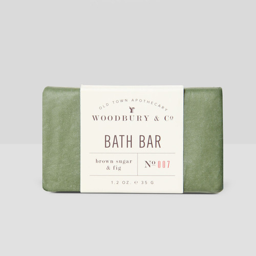 Woodbury Oatmeal Rectangle body and bath soap bar N077, in Paper Wrap with Brown Sugar & Fig Scent