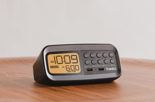 Timex Clock Radio With Present Tuning and Dual USB Charging 12/Case