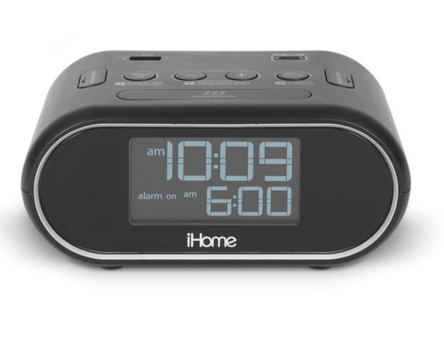 iHome LCD Triple Display Alarm Clock with Dual USB Charging 4/Case