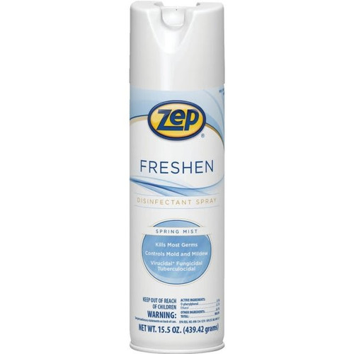 ZEP 15.5 Oz Spring Mist Freshen Disinfectant Spray 12/Case