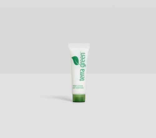Body Lotion Terra Green Screw Cap Tube with Lemongrass Essence
