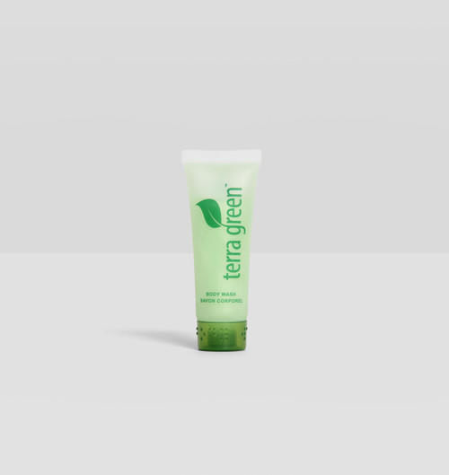 Body Wash Terra Green Screw Cap Tube with Lemongrass Essence
