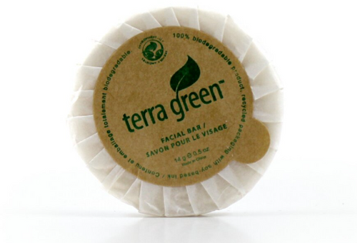 Cleansing Soap Bar Terra Green Round Paper Pleat Wrap Soap, 0.5oz, 1000/Case