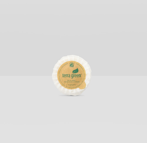 Cleansing Soap Bar Terra Green Round Paper Pleat Wrap Soap, 0.75oz, 500/Case