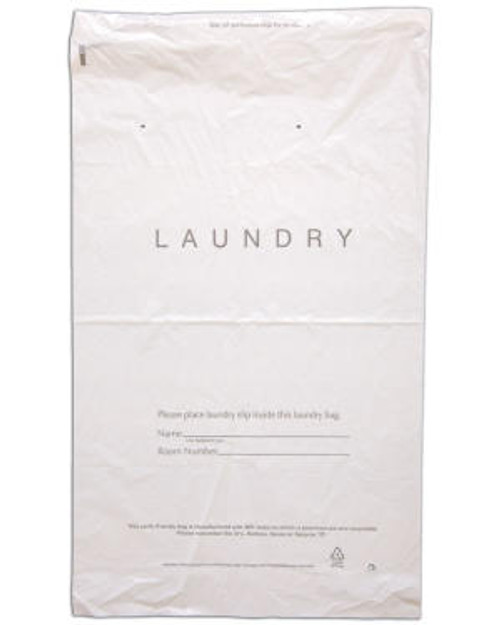 "14 x 24 Hotel Tear-Tape ""Laundry"" Bag (1000 Per Case)"