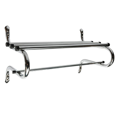 "TMK Series Traditional Zinc Coat Rack 1"" Rod - Zinc, 30"" Width   Zinc plated finish easily withstands rust Sturdy 1″ tube construction Available in 1"" hanging rod Rods finished with black end caps Height: 17″' Depth: 14 3/4″ Available widths: 24"", 30"", 36"", 48"", 60"""