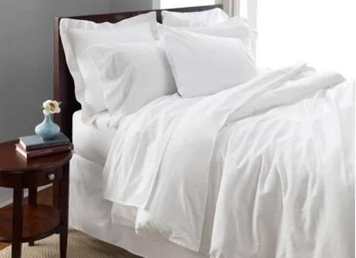 Oasis T300 94x94 Queen Duvet Cover - White (Case Pack Of 6)