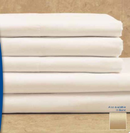 Dependability T180 60x80x9 Queen Fitted Sheet - Bone (Case Pack Per Dozen)
