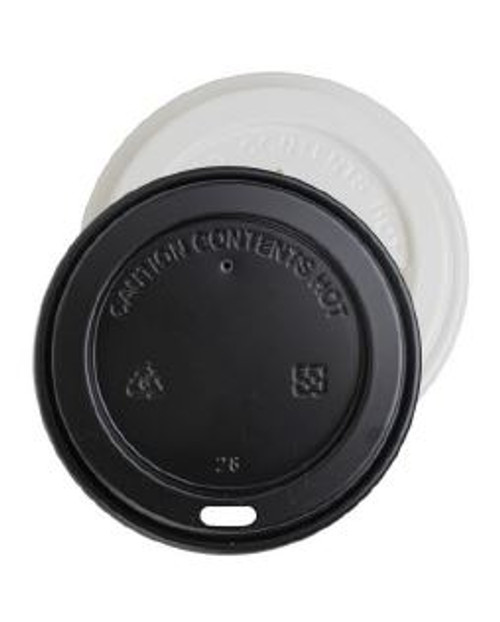 Hot Cup White Lid Fits 10-16oz Cups 1,000/Case