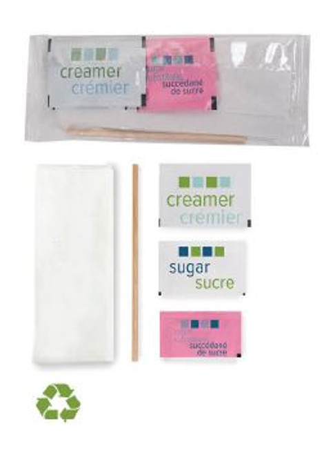 Clear Wrapped Single Condiment Package (Wood Stir Stick) 500/Case