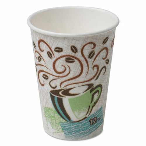 DIXIE FOOD SERVICE PerfecTouch Hot Cups, 8oz, Coffee Dreams, Individually Wrapped, 1000/Case.