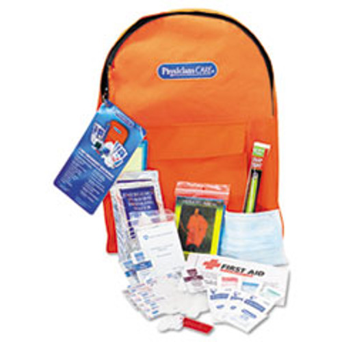 Acme United Emergency Preparedness First Aid Backpack, 43 Pieces Kit