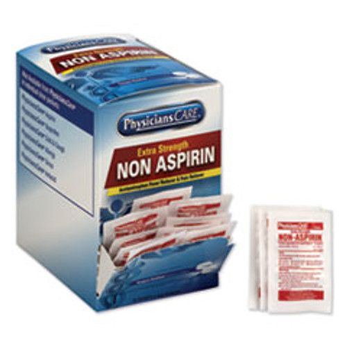 Acme United Non Aspirin Acetaminophen Medication, Two-Pack, 50 Packs Box