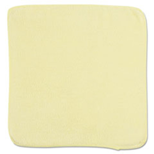 Rubbermaid Microfiber Cleaning Cloths, 12 x 12, Yellow, 24 Bag