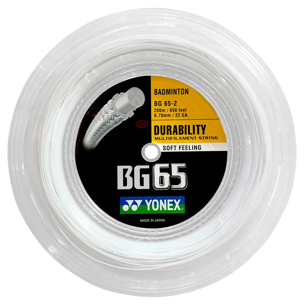 Yonex BG65 0.70mm Badminton Strings Set