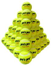 Pro's Pro Practice Tennis Balls 60 Pack