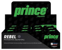 Prince Rebel Single Yellow Dot Squash Balls 12 Pack