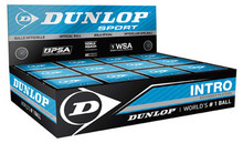 Dunlop Intro Blue Dot Squash Balls 12 Pack