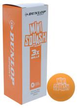 Dunlop Play Mini Orange Squash Balls 3 Pack