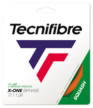 Tecnifibre X-One Biphase 17 1.24mm Squash Set