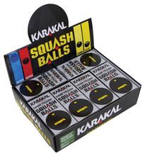 Karakal Single Yellow Dot Squash Balls 12 Pack