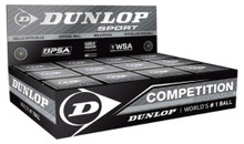Dunlop Competition Single Yellow Dot Squash Balls 12 Pack