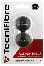 Tecnifibre Double Yellow Dot Squash Balls 2 Pack