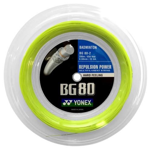 Yonex BG80 0.68mm Badminton 200M Reel - W & D Strings