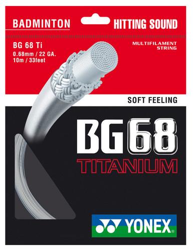 Yonex BG68Ti 0.68mm Badminton Strings 200M Reel