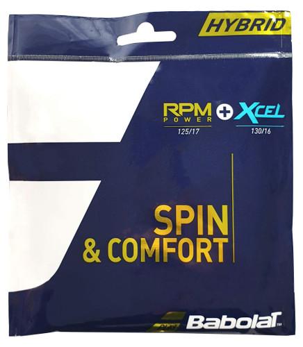 Babolat RPM Power and Xcel 1.25mm-1.30mm Hybrid Set