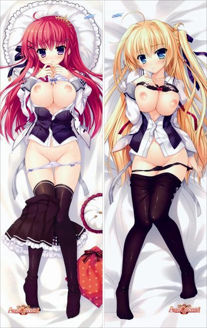 ALIA's CARNIVAL!  Ousaka Asuha&Tsukuyomi Sakurakouji Anime Dakimakura Pillow Cover