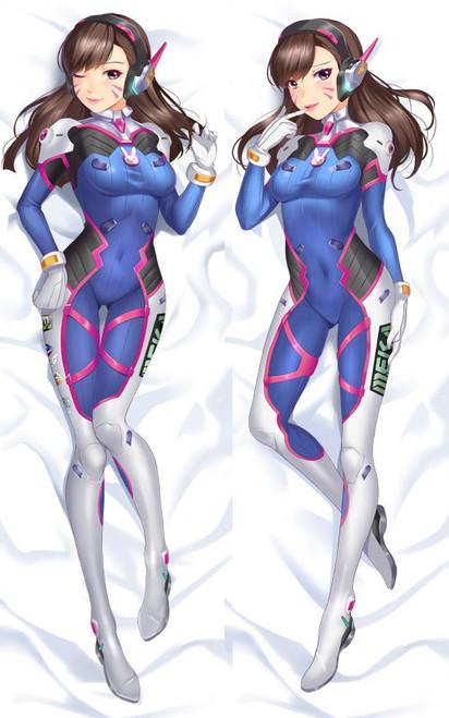 Overwatch - D.VA Anime Dakimakura Japanese Pillow Cover    -2