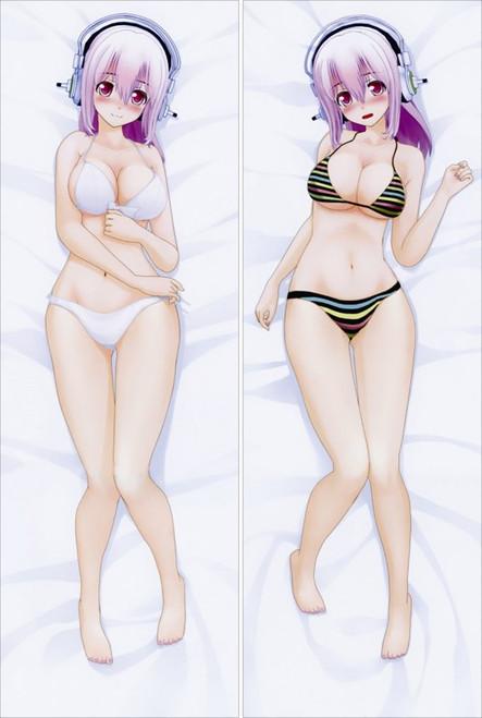 Super Sonico Anime Dakimakura Pillow Cover   -12