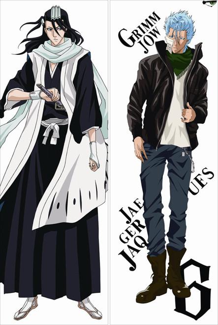Bleach - Grimmjow Jaegerjaques + Byakuya Kuchiki Anime Dakimakura Pillow Cover