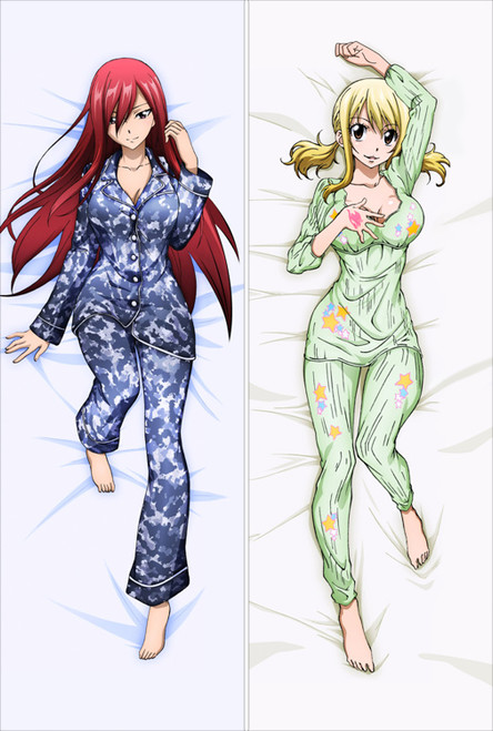 Fairy Tail - Erza Scarlet + Lucy Heartfilia Anime Dakimakura Pillow Cover