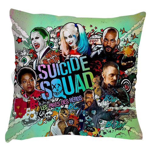 Suicide Squad Margot Robbie Harley Quinn And Joker Cushion Case Throw Pillow Cover-1