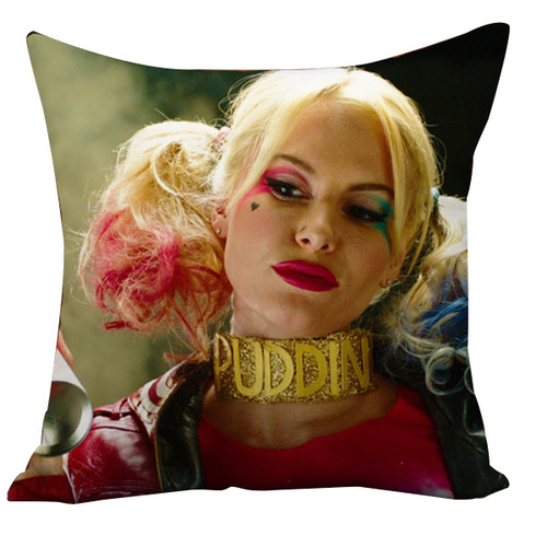 Suicide Squad Margot Robbie Harley Quinn And Joker Cushion Case Throw Pillow Cover-12