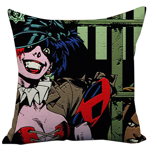 Suicide Squad Margot Robbie Harley Quinn And Joker Cushion Case Throw Pillow Cover-15